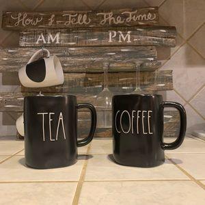 Rae Dunn BLACK COFFEE & TEA MUG SET